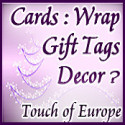 Christmas Wrap, Cards, Tags, Ornaments at Touch of Europe