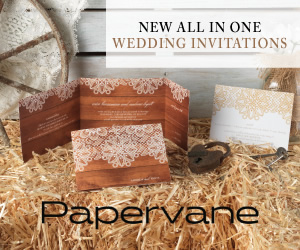 Announce your special day with the All-In-One Wedding  Invitations from Papervane! Shop from rustic t
