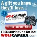 WolfCamera.com Gift Certificates