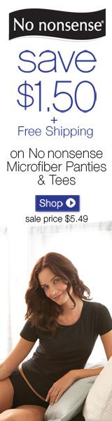 Save $1.50 + Free Shipping on Panties & Tees