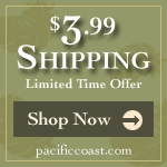 $3.99 Shipping at Pacific Coast Feather Co.