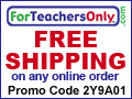 Free Shipping on orders - www.ForTeachersOnly.com