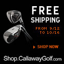 Flat Rate Shipping at Shop.CallawayGolf.com