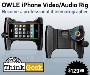 OWLE iPhone Video/Audio Accessory Banner