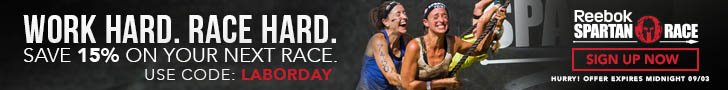 Labor Day Event! Save 15% off any U.S. Spartan Race, Use Code: LABORDAY. Valid 12:01AM 9/27/14 throu