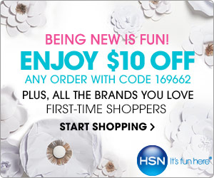 New customers get $10 off your first purchase of $20 or more from HSN! Use Code: 169662