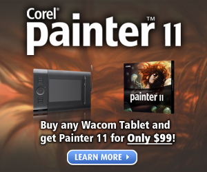 Save on Painter 11 + Wacom Pen Tablet Bundle!