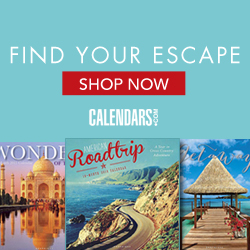 Shop Travel & Scenic Calendars!