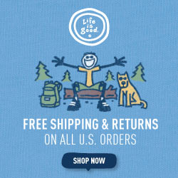 Free Shipping and Returns On All Orders at Lifeisgood.com