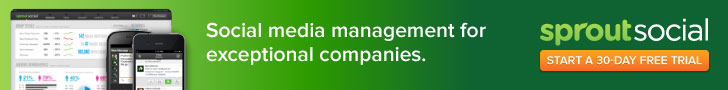 Social media management for exceptional companies. Green background.