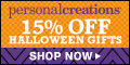 15% off Personalized Halloween Treat Bags and Decor from Personal Creations - 120x60