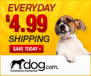 $4.99 Flat Shipping up to 20lbs at dog.com!