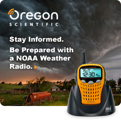 NOAA Weather Alert Radios from Oregon Scientific