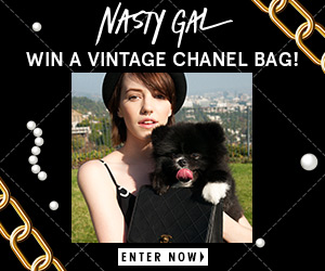Sign up at Nasty Gal for a chance to get your hands on a vintage Chanel bag. Ooh la la is right!