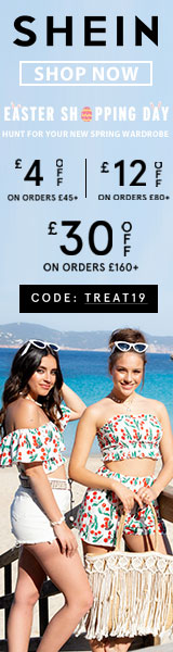 Weekly Deal - www.SHEIN.co.uk with code TREAT19 Offer Expires - 04/22