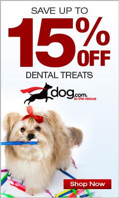 15% OFF Dog Dental Treats