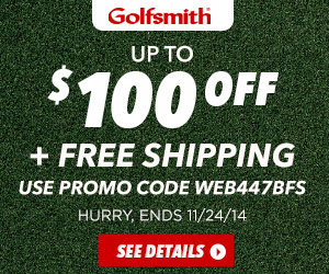 Get up to $100 off purchases of $500 or more, plus Free Shipping with code WEB447BFS at Golfsmith.co