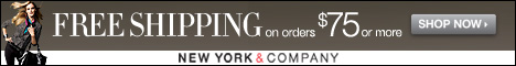 Free Shipping on NY&CO purchases of $75 or greater