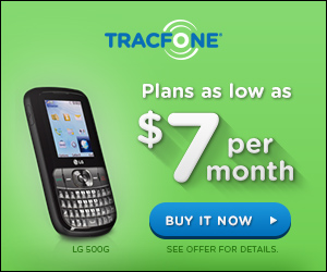 Plans as low as $7 per Month at TracFone.