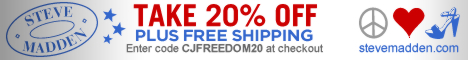 20% Off + Free Shipping 7/1-7/6 From Steve Madden