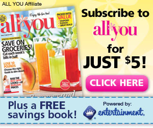 Get 3 Issues of All You + a Free Coupon Book with HUGE Savings For Only $5! Offer ends 9/19.