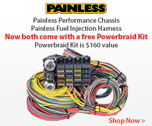 Get $100 BACK when you buy a  Fuel Injection Wiring Harness  from Painless