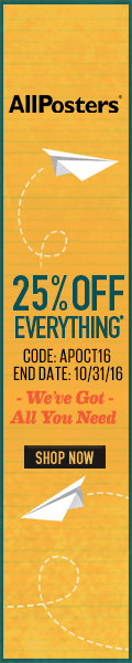 Save 28% on all orders of posters, art, photography and more at AllPosters.com! Code: DECOR316