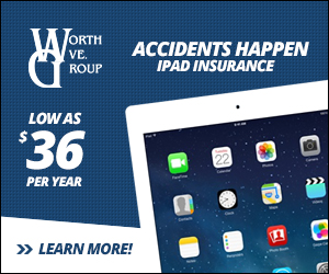 Accidents happen.  Get your iPad Insurance today!