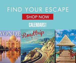 Shop Travel & Scenic Calendars Today!