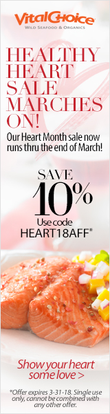 Save 10% Off For Heart Health Month & Get Free Shipping On Orders Over $99 AT VitalChoice.com! Use C