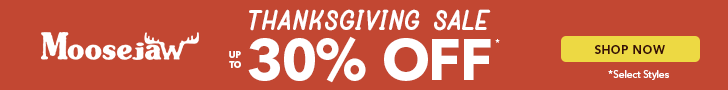 Thanksgiving Sale! Up to 30% off select styles from our Best Brands