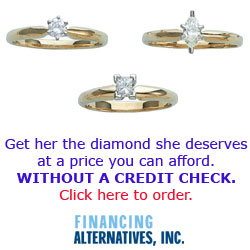 Finance jewelry with no credit check!