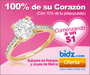Win 100% of her heart for 10% Of cost at Bidz