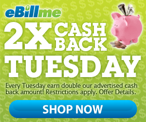2 x Cash Back Tuesday is Here