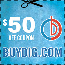 Save up to $50 off your next order at BuyDig.com