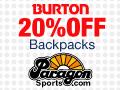 20% Off Burton Back Packs at Paragon Sports