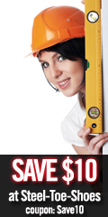 Save $10 on Any Style at Steel-Toe-Shoes - Save10