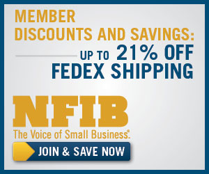 NFIB members save 21% on shipping