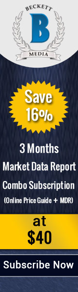 Save 16% on 3 Months Market Data Report Combo Subscription (Online Price Guide +MDR) .Special Price: $40
