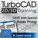 Boost your working knowledge of 2D/3D design - TurboCAD 2D/3D Training Guide.