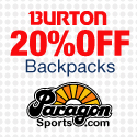 20% Off Burton Back Packs at Paragon Sports