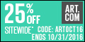 Save 30% on all orders of art, prints, posters, fine art, decorative and more at Art.com! Code: 30SC