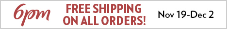 6PM Free Shipping Week 468x60 Banner