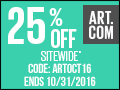 Save 25% on all orders of fine art, prints, decor and more at Art.com! Code: SEPT916 (Ends 9/30)