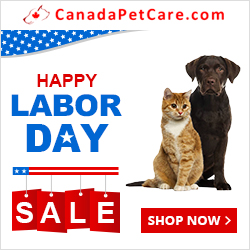 Happy Labor Day from CanadaPetCare.com! Get 12% Off + Free Shipping. Code: LBDY12