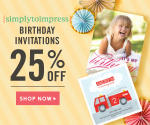 Save 25% on Birthday Party Invitations!
