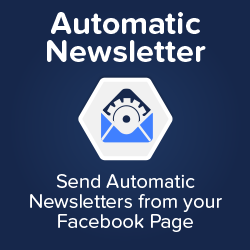 Maximize your page reach with an automatic newsletter