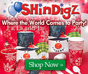 Holiday Party Supplies at Shindigz!