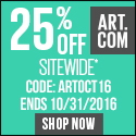 New Year, New Art! Save 30% on all orders of fine art, prints, decor and more at Art.com! Code: NEWY