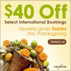 Vayama.com - ThanksGiving Deals